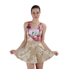 Delicate Floral Pattern,softly Mini Skirts