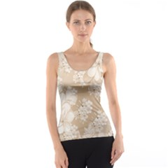 Delicate Floral Pattern,softly Tank Tops