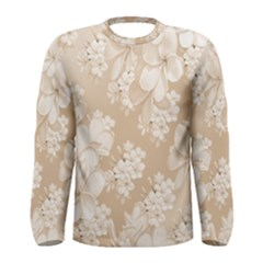 Delicate Floral Pattern,softly Men s Long Sleeve T Shirts