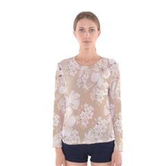 Delicate Floral Pattern,softly Women s Long Sleeve T-shirts