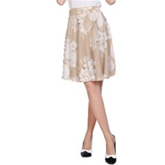 Delicate Floral Pattern,softly A-Line Skirts