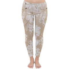 Delicate Floral Pattern,softly Winter Leggings