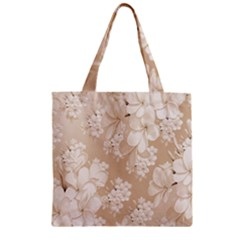 Delicate Floral Pattern,softly Zipper Grocery Tote Bags