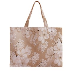 Delicate Floral Pattern,softly Zipper Tiny Tote Bags