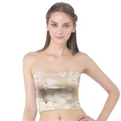 Delicate Floral Pattern,softly Women s Tube Tops