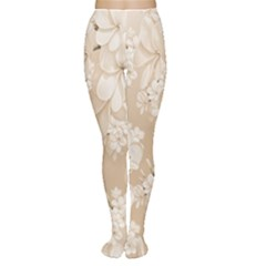 Delicate Floral Pattern,softly Women s Tights
