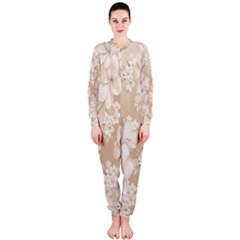 Delicate Floral Pattern,softly OnePiece Jumpsuit (Ladies)