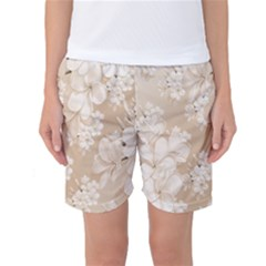 Delicate Floral Pattern,softly Women s Basketball Shorts