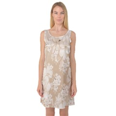 Delicate Floral Pattern,softly Sleeveless Satin Nightdresses