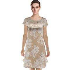 Delicate Floral Pattern,softly Cap Sleeve Nightdresses