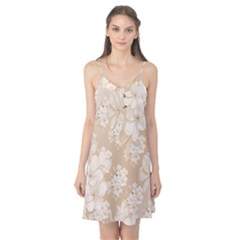 Delicate Floral Pattern,softly Camis Nightgown