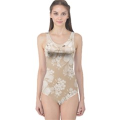 Delicate Floral Pattern,softly Women s One Piece Swimsuits