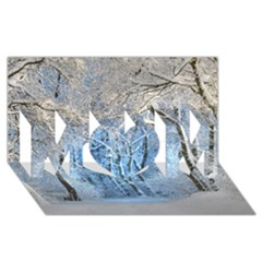 Another Winter Wonderland 1 MOM 3D Greeting Card (8x4)