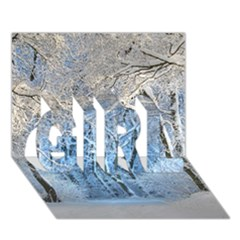 Another Winter Wonderland 1 GIRL 3D Greeting Card (7x5)