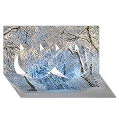 Another Winter Wonderland 1 Twin Hearts 3d Greeting Card (8x4)