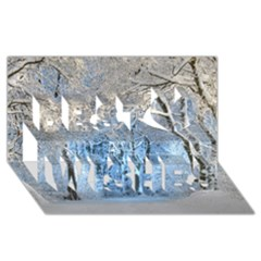 Another Winter Wonderland 1 Best Wish 3D Greeting Card (8x4)