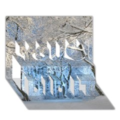 Another Winter Wonderland 1 You Did It 3D Greeting Card (7x5)