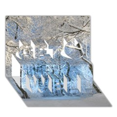 Another Winter Wonderland 1 Get Well 3d Greeting Card (7x5)