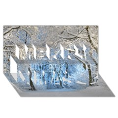 Another Winter Wonderland 1 Merry Xmas 3d Greeting Card (8x4)