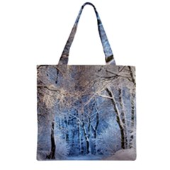 Another Winter Wonderland 1 Zipper Grocery Tote Bags