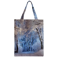Another Winter Wonderland 1 Zipper Classic Tote Bags