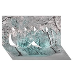 Another Winter Wonderland 2 Twin Hearts 3D Greeting Card (8x4)