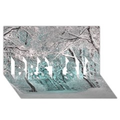 Another Winter Wonderland 2 Best Sis 3d Greeting Card (8x4)