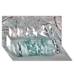 Another Winter Wonderland 2 Best Wish 3d Greeting Card (8x4)