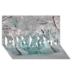Another Winter Wonderland 2 ENGAGED 3D Greeting Card (8x4)