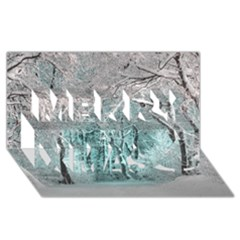 Another Winter Wonderland 2 Merry Xmas 3d Greeting Card (8x4)