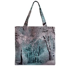 Another Winter Wonderland 2 Zipper Grocery Tote Bags