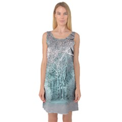 Another Winter Wonderland 2 Sleeveless Satin Nightdresses