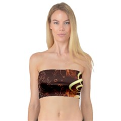 Decorative Cllef With Floral Elements Women s Bandeau Tops