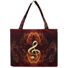 Decorative Cllef With Floral Elements Tiny Tote Bags