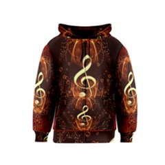 Decorative Cllef With Floral Elements Kids Zipper Hoodies