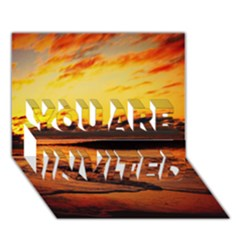 Stunning Sunset On The Beach 2 YOU ARE INVITED 3D Greeting Card (7x5)