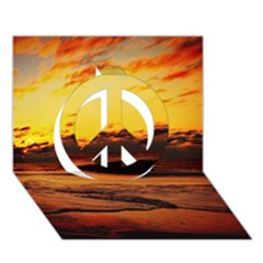 Stunning Sunset On The Beach 2 Peace Sign 3d Greeting Card (7x5)