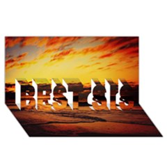 Stunning Sunset On The Beach 2 BEST SIS 3D Greeting Card (8x4)