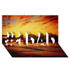 Stunning Sunset On The Beach 2 #1 Dad 3d Greeting Card (8x4)