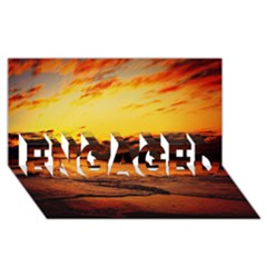 Stunning Sunset On The Beach 2 ENGAGED 3D Greeting Card (8x4)
