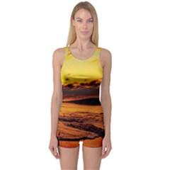 Stunning Sunset On The Beach 2 Women s Boyleg One Piece Swimsuits