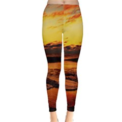 Stunning Sunset On The Beach 2 Winter Leggings