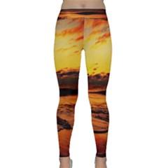 Stunning Sunset On The Beach 2 Yoga Leggings