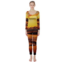Stunning Sunset On The Beach 2 Long Sleeve Catsuit