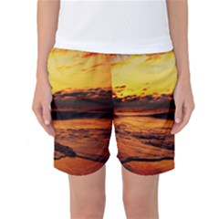 Stunning Sunset On The Beach 2 Women s Basketball Shorts