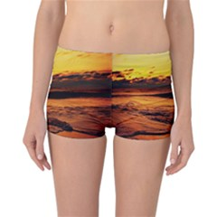 Stunning Sunset On The Beach 2 Reversible Boyleg Bikini Bottoms