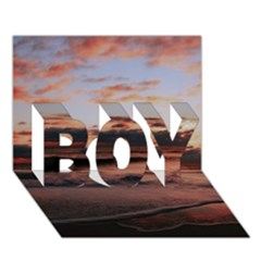 Stunning Sunset On The Beach 3 Boy 3d Greeting Card (7x5)
