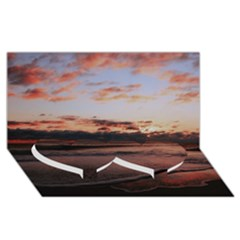 Stunning Sunset On The Beach 3 Twin Heart Bottom 3D Greeting Card (8x4)