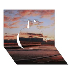 Stunning Sunset On The Beach 3 Apple 3D Greeting Card (7x5)