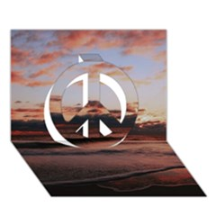 Stunning Sunset On The Beach 3 Peace Sign 3D Greeting Card (7x5)
